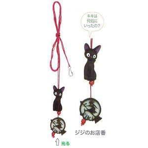 *凱西小舖*日本進口正版宮崎駿魔女宅急便黑貓吉吉KIKI造型夜光燈飾延長繩