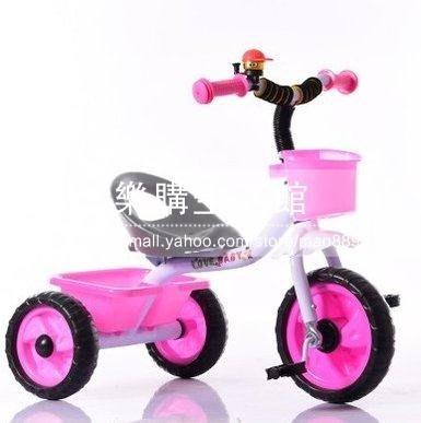 兒童三輪腳踏車小孩子自行車【粉色】LG-286883
