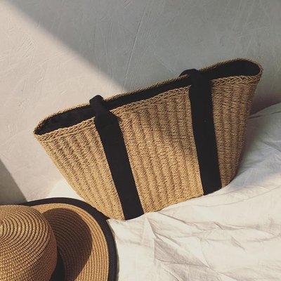 編織包 夏季旅遊度假海灘包包草編包沙灘包編織包休閒側背包手提包女 維科特3C