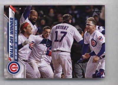 2020 Topps Series 2 #469 Walk-Off Winner - Chicago Cubs
