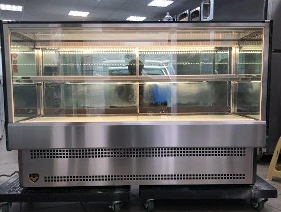 冠億冷凍家具行 [嚴選新中古機] 台灣製金格四尺桌上型直角蛋糕櫃/4尺落地直角蛋糕櫃/冷藏櫃、冰箱、巧克力櫃/220V