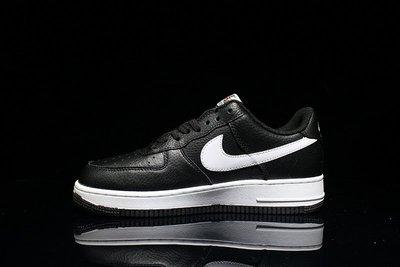 D-BOX Nike AIR FORCE 1 黑白 皮革 空軍一號 低筒 休閑鞋 慢跑鞋 男女鞋