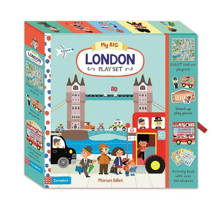 *小貝比的家*MY BIG LONDON PLAY SET/英文硬頁遊戲童書/3~6歲