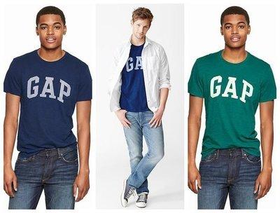 【BJ.GO】美國GAP_男裝_Arch logo slub T-shirt 經典Logo圓領T恤 新品現貨