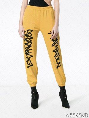 【WEEKEND】 ADAPTATION Logo 文字 印圖 長褲 棉褲 黃色