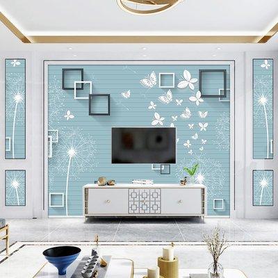佩奇壁纸簡約3d立體電視背景墻壁紙客廳無紡布墻紙5d蒲公英壁畫8d影視墻布小猪佩奇