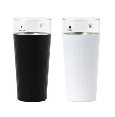 『代購』日本 CB JAPAN  不銹鋼真空隔熱玻璃杯   HIGHBALL 杯   黑/白  /代購女王/