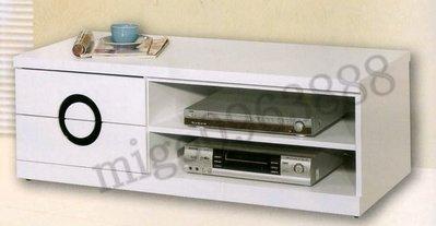 高雄 永成 全新  圓緣烤白4尺電視櫃/4尺矮櫃/4尺電視櫃/4尺TV櫃 台灣製造