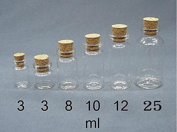 【佳樺生活本舖】MIT透明玻璃軟木塞瓶星沙瓶玻璃瓶許願瓶罐瓶瓶罐罐造型瓶子團購批發3ml~25ml