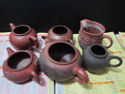 挖寶物件**收藏很久紫砂壺(養壺,沒有蓋子六個一起)
