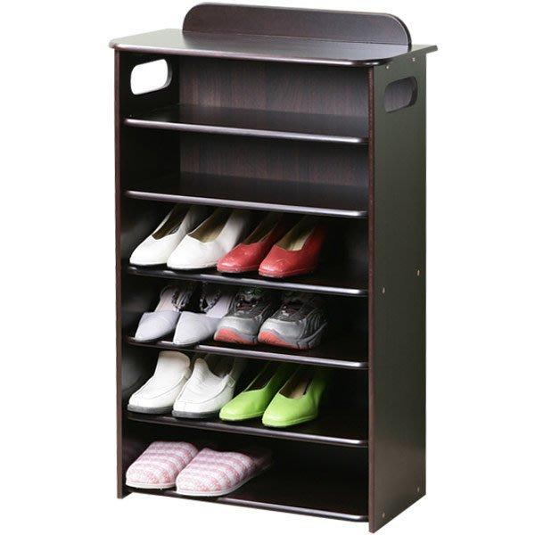 鞋櫃 新古典歐風六層鞋櫃 鞋架 收納櫃 置物架 收納架 展示架【Yostyle】 SC-1266(胡桃)