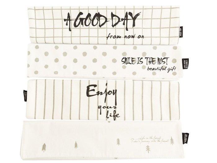 【幸福2次方】北歐簡約純棉長方形餐墊 無印風純棉雙層布藝餐墊 - 文字款 - 多款可選
