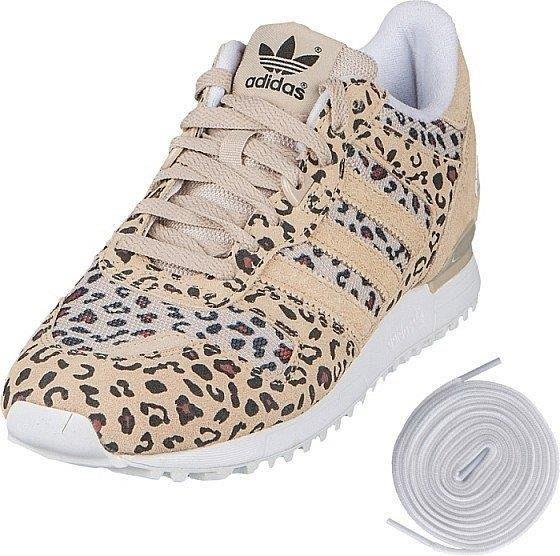 (土豆)Adidas Originals ZX 700 男女段 米色 豹紋 麂皮 復古跑跑步鞋 B34330 余文樂