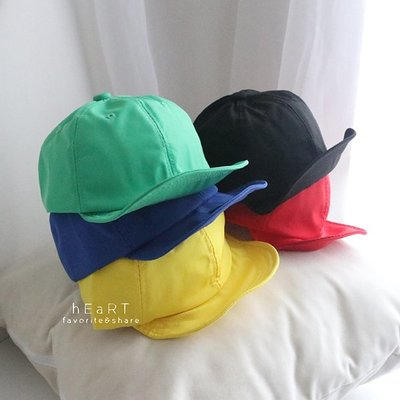【媽媽倉庫】防潑水素色遮陽鴨舌帽 帽子 童帽