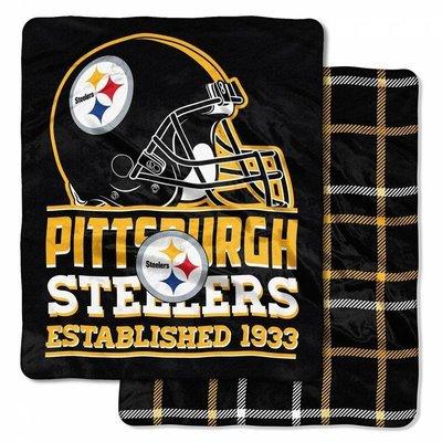 [現貨]美式足球雙面毛毯NFL匹茲堡鋼人Pittsburgh Steelers Double-Sided空調交換生日禮品