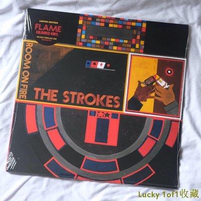 Lucky 1of1收藏The Strokes Room On Fire 限量 橙紅膠 LP 黑膠唱片