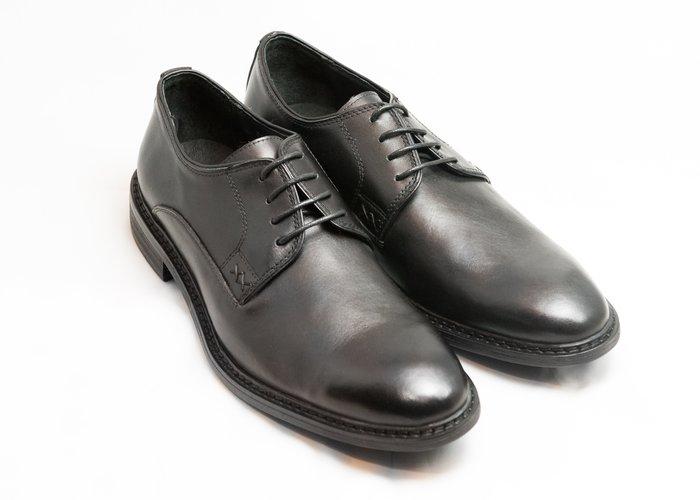 素面德比鞋:手工上色小牛皮真皮木跟男鞋皮鞋-黑色-免運費-[LMdH直營線上商店]B1A15-99