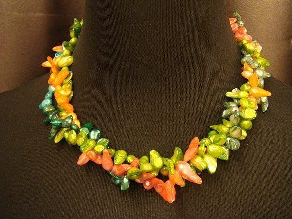 全新可愛天然珍珠造型項鍊,很美喔!低價起標無底價!本商品免運費!