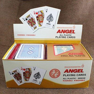 溜溜原裝進口正品 日本天使ANGEL 塑料磨砂撲克牌 G-0501/G0502 6副裝