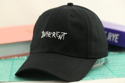 紫荊【INHERENT 鴨舌帽 黑色】棒球帽 高爾夫球帽 卡車貨車帽 板帽 老帽 網帽 漁夫帽 毛帽 扁帽 圍巾 飛行帽