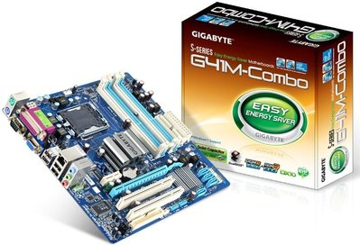 GA-G41M-Combo + Core 2 Quad Q8300 + Team DDR3 4GB 終保