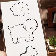 【萌古屋】】可愛雲朵狗狗恐龍 - 防水紋身貼紙刺青貼紙 HC-3027