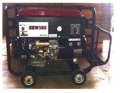 【 老王購物網 】YAMANO 山野 SHW-190 引擎電焊機 汽油引擎電動啟動電焊機15HP
