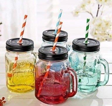 (最低價)創意夏日漸變彩色梅森玻璃瓶