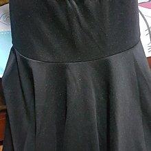 黑色及膝圓裙