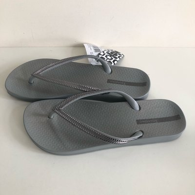 《現貨》Ipanema 女生 拖鞋 巴西尺寸33/34,35,36(人體工學 純色人字夾腳拖鞋-淺灰/銀帶)