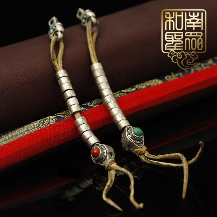 宏美飾品館~藏傳密宗佛珠念珠手鍊配飾三七銀白銅傳統復古式念佛計數器夾子