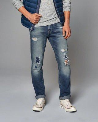 【BJ.GO】Abercrombie & Fitch_A&F SKINNY JEANS 美國刷破緊身牛仔褲