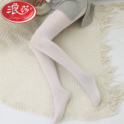 yoyo淘淘樂白絲襪女學生日系夏季薄款可愛白色舞蹈襪成人透氣吸汗連褲襪