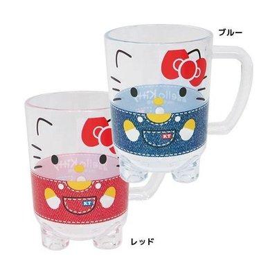 尼德斯Nydus~* 日本正版 三麗鷗 Hello Kitty 造型杯子 透明水杯 壓克力材質 防破 280ml
