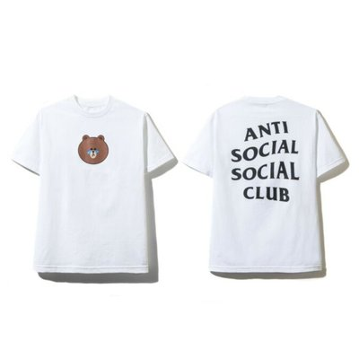 Anti Social Social Club ASSC X LINE FRIENDS BROWN TEE 熊大