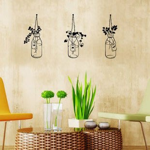 小妮子的家@花瓶花盆壁貼/牆貼/玻璃貼/汽車貼/磁磚貼/家具貼