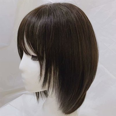 整頂假髮真髮絲中長假髮-內彎及肩直髮手織女假髮2色73vr24[獨家進口][米蘭精品]