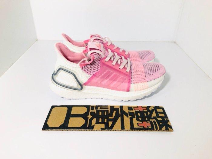 Adidas ULTRA BOOST 19 白粉 銀 粉紅 櫻花 白底 針織 雪花 馬牌 休閒 慢跑 女鞋 F35283
