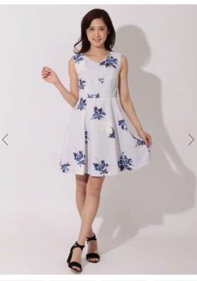 日本貴牌純原BE RADIANCE 紫色花朵優雅洋裝(全新現貨)
