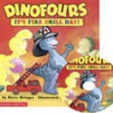 *小貝比的家*DINOFOURS: IT'S FIRE DRILL DAY! /平裝書+CD