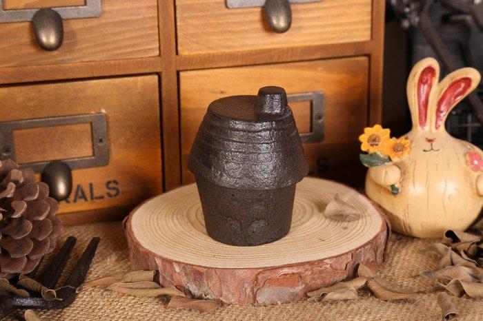 雜貨日式複古鑄鐵擺件小屋/小收納盒/小首飾盒
