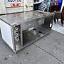 [年強二手傢俱-廣福店] 飲料杯工作台 六尺不鏽鋼工作台 厚白鐵工作檯 置物收納 廚房調理桌 20010901