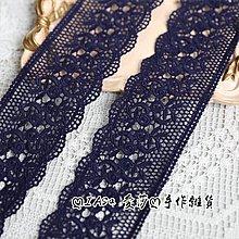 『ღIAsa 愛莎ღ手作雜貨』花邊輔料好品質藏青色/白色蕾絲玫瑰花棉水溶寬6.2cm