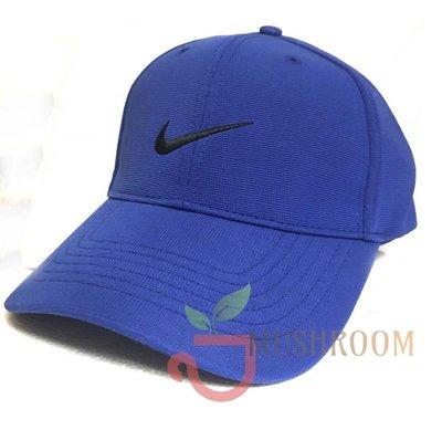 全新 現貨 NIKE GOLF 棒球帽 魔鬼氈 帽子 老帽 可調式 運動帽 高透氣高爾夫帽 基本 素面 寶藍
