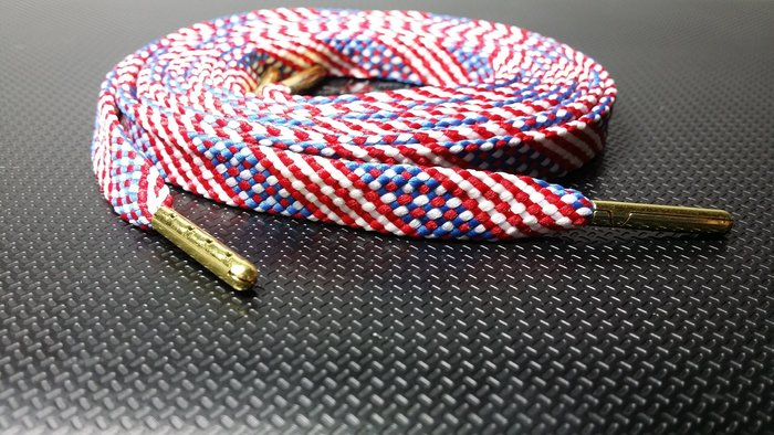 ~FLAT 美國國旗金屬頭鞋帶~USA American Jordan Metal Tip