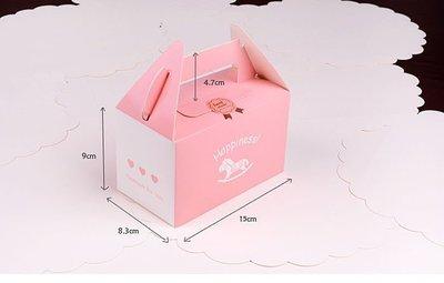 粉色木馬手提盒 15X8.3X9cm婚禮小物包裝盒1入18元喜糖 蛋糕 布丁 杯子蛋糕 彌月餐盒, 餅乾盒~幸福生活館
