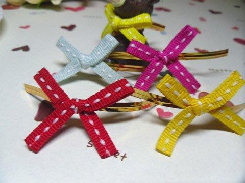 [吉田佳]B52602虛線緞帶蝴蝶結(單色20枚入),隨機出貨不挑色,包裝帶/喜糖盒配件/魔帶/婚禮小物