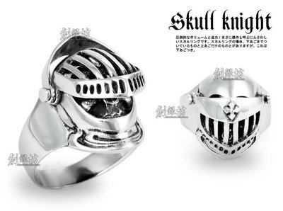 【創銀坊】骷髏 騎士 925純銀 戒指...