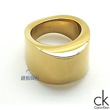 【錶飾精品】Calvin Klein KJ79AR0201 CK飾品 女性 戒指 sensory系列 金色 316L白鋼