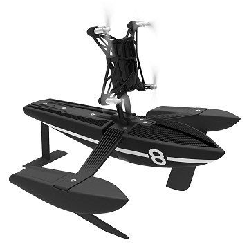 【翼世界】Parrot Minidrone Airborne Hydrofoil Drone 智能遙控飛翼船 水空兩用 (黑色)
